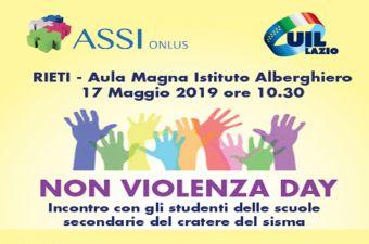 NO VIOLENZA DAY - INCONTRO CON GLI STUDENTI DELLE SCUOLE SECONDARIE DEL CRATERE DEL SISMA