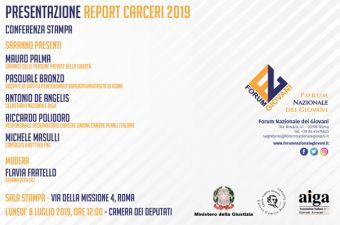 PRESENTAZIONE REPORT CARCERI 2019 - 08 LUGLIO 2019