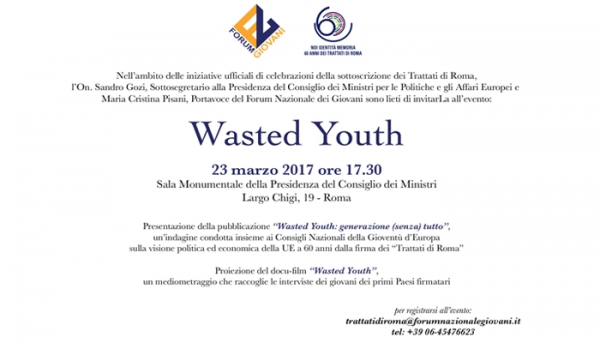 "PRESENTAZIONE ""WASTED YOUTH"""